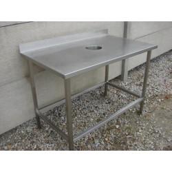 Stół z Otworem na Odpady  113/68/85 cm - DJ96